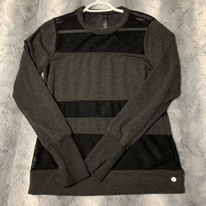 Grey mesh shirt